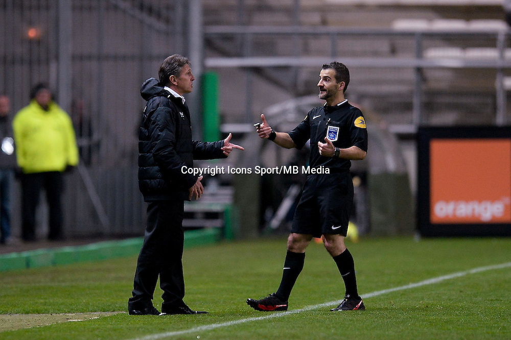 Claude PUEL / Sebastien DESIAGE - 19.12.2014 - Lens / Nice - 19e journee Ligue 1<br />