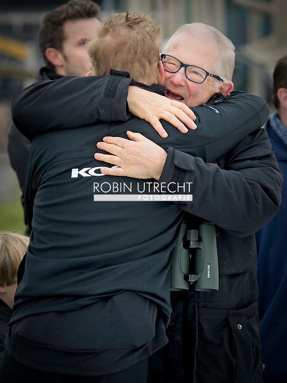 BIDDINGHUIZEN - Prins Bernhard en prins pieter van vollenhoven tijdens de tweede editie van De Hollandse 100 op FlevOnice, een sportief evenement van fonds Lymph en Co ter ondersteuning van onderzoek naar lymfeklierkanker.  COPYRIGHT ROBIN UTRECHT <br /> BIDDINGHUIZEN -  During the second edition of the Dutch 100 on FlevOnice, a sporting event fund Lymph and Co. to support research into lymphoma. COPYRIGHT ROBIN UTRECHT