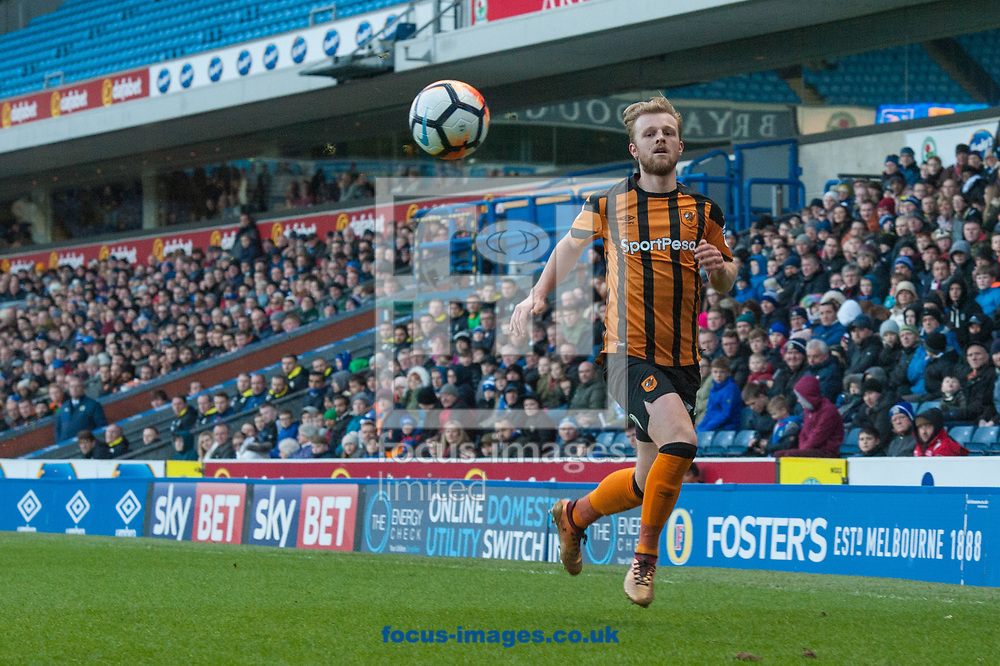 Max Clark of Hull City chases a loose ball during the FA Cup match at Ewood Park, Blackburn<br /> Picture by Matt Wilkinson/Focus Images Ltd 07814 960751<br /> 06/01/2018