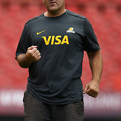 Mario Ledesma (Head Coach) during the Jaguares Captain Run at the Emirates Airlines Park, South Africa. 23 February 2018 (Photo by Steve Haag/UAR)