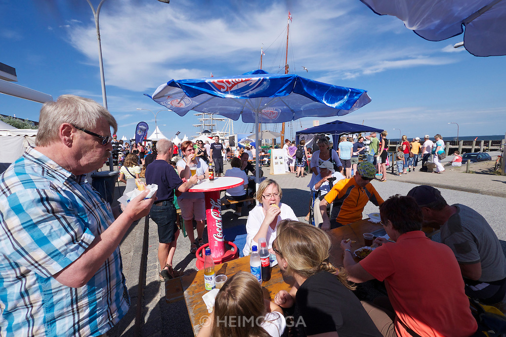 Sylt, Germany. Hörnum. 25th Hafenfest (Harbor Festival). Fish and seafood specialties.