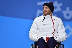 FRANCOIS_Frederic, ParaSkiAlpin, Para Alpine Skiing, Super G, Podium at PyeongChang2018 Winter Paralympic Games, South Korea.