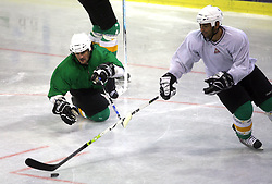 Frank Banham of Canada at second ice hockey practice of HDD Tilia Olimpija on ice in the new season 2008/2009, on August 19, 2008 in Hala Tivoli, Ljubljana, Slovenia. (Photo by Vid Ponikvar / Sportal Images)