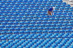 Sitzplätze werden beklebt<br /> Tryon - FEI World Equestrian Games™ 2018<br /> Hintergrundbilder vom Veranstaltungsgelände<br /> 10.September 2018<br /> © www.sportfotos-lafrentz.de/Stefan Lafrentz