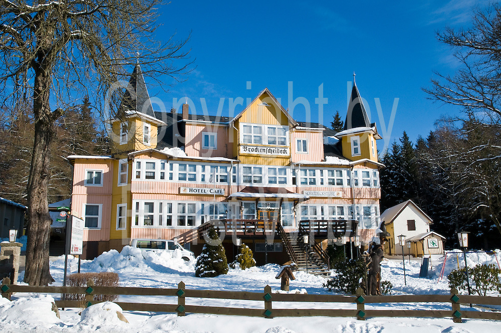 Hotel Brockenscheideck, Schierke, Schnee, Winter, Harz, Sachsen-Anhalt, Deutschland |Hotel Brockenscheideck, Schierke, winter, Harz, Saxony-Anhalt, Germany