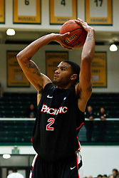 Dec 10, 2011; San Francisco CA, USA;  Pacific Tigers guard Colin Beatty (2) shoots against the San Francisco Dons during the second half at War Memorial Gym.  San Francisco defeated Pacific 79-69. Mandatory Credit: Jason O. Watson-US PRESSWIRE