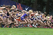 Dec 1, 2018; Portland, OR, USA; General overall view of the boys start during the Nike Cross Nationals at Glendoveer Golf Course.
