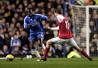 Photo: Olly Greenwood.<br />Chelsea v Arsenal. The Barclays Premiership. 10/12/2006. Arsenal's Alexander Hleb and Chelsea's Claude Makelele