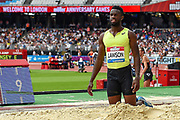 Jarrion Lawson of the Unites States of America in the Men's Long Jump during the Muller Anniversary Games, Day Two, at the London Stadium, London, England on 22 July 2018. Picture by Martin Cole.