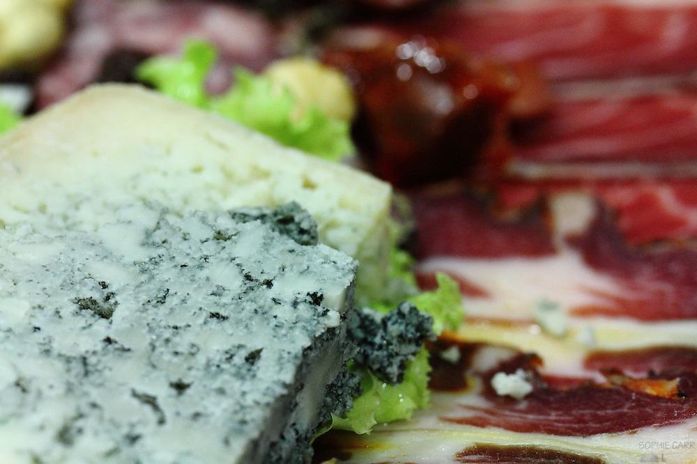 Tresvigo blue cheese, a speciality of the Asturias region of northern Spain