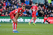 Bristol City striker Matt Taylor (12) rues a missed chance during the EFL Sky Bet Championship match between Bristol City and Burton Albion at Ashton Gate, Bristol, England on 4 March 2017. Photo by Richard Holmes.