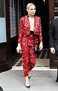 May 4, 2015 - New York City, NY, USA - <br /> <br /> Actress Sienna Miller leaves a dowbtown hotel on her way to the Met Gala on May 4 2015 in New York City <br /> ©Exclusivepix Media