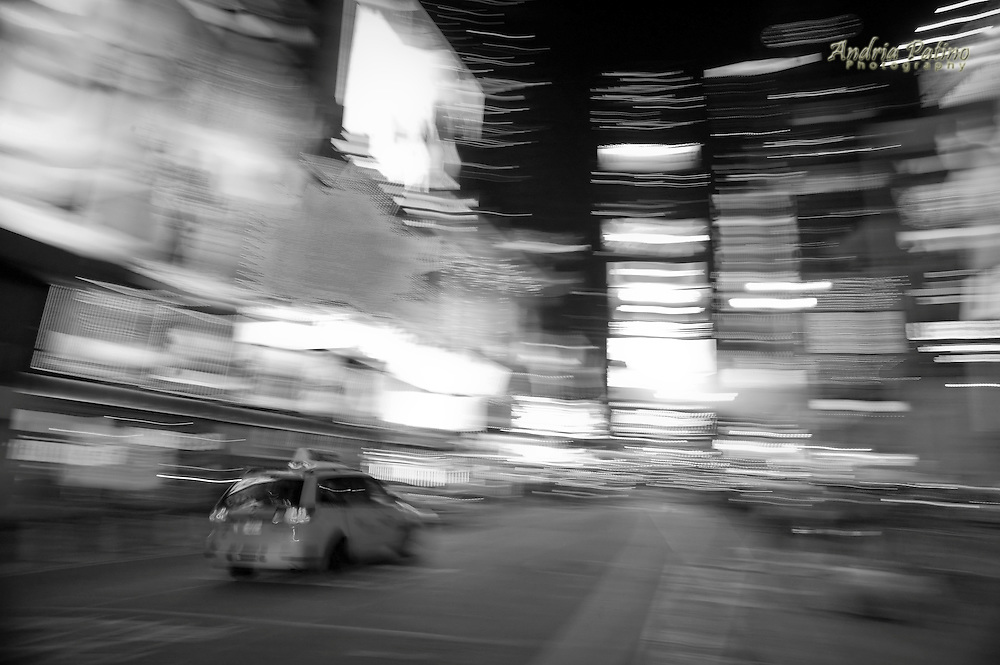 Taxi into Times Square