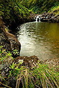 Many waterfalls can be seen along the Hana Highway, a long, twisting coastal road that winds through the jungles of Maui to the isolated community of Hana on the east coast. (Photo by Aaron Schmidt © 2011)