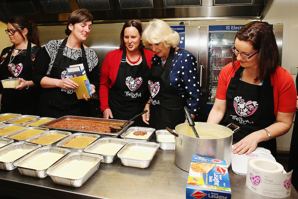 Camilla, Duchess of Cornwall meets mothers who prepare meals for new born babies from the Bellyful charity, Auckland, New Zealand, New Zealand, Sunday, November 08, 2015. Credit:SNPA / Hannah Peters,  **POOL**