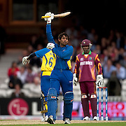 Tillakaratne Dilshan bats during the ICC World Twenty20 Cup semi-final between Sri Lanka and West Indies at The Oval. Photo © Graham Morris (Tel: +44(0)20 8969 4192 Email: sales@cricketpix.com)