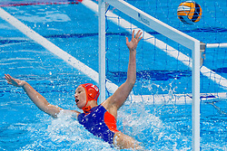 Debby Willemsz #13 of Netherlands during the semi final Netherlands vs Russia on LEN European Aquatics Waterpolo January 23, 2020 in Duna Arena in Budapest, Hungary