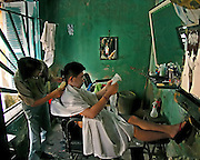 Vietnam, Hoi An:barber shop.
