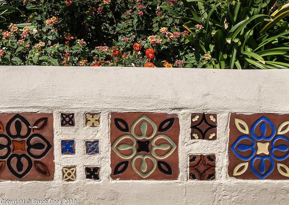 Tile along the wall