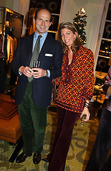 COUNT & COUNTESS RICCARDO PAVONCELLI she was Cosima Von Bulow daughter of Claus Von Bulow at a jewellery party hosted by Osanna Visconti and Pia Marocco at Allegra Hick's shop, 28 Cadogan Place, London on 25th November 2004.<br /><br />NON EXCLUSIVE - WORLD RIGHTS