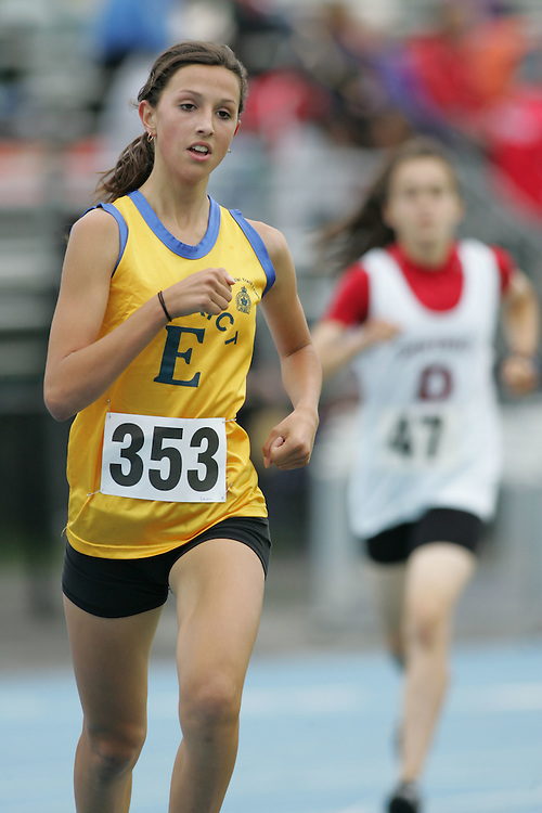 Rachel Islam competing in the 1500m at the 2007 Ontario Legion Track and Field Championships. The event was held in Ottawa on July 20 and 21.
