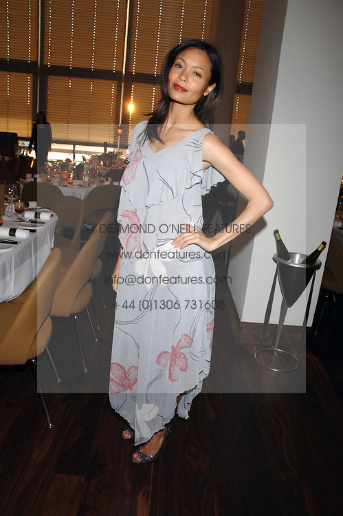 Actress THANDIE NEWTON at a dinner hosted by Vogue in honour of Antony Gormley held at the new Skylon restaurant at the refurbished Royal Festival Hall, South Bank, London on 22nd May 2007.<br /><br />NON EXCLUSIVE - WORLD RIGHTS