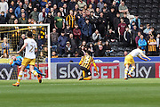 Sheffield Wednesday forward Jordan Rhodes (7) scores a goal 0-1 during the EFL Sky Bet Championship match between Hull City and Sheffield Wednesday at the KCOM Stadium, Kingston upon Hull, England on 14 April 2018. Picture by Mick Atkins.