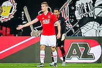 ALKMAAR - 04-12-2015, AZ - ADO Den Haag, AFAS Stadion, 0-1, teleurstelling na de 0-1, AZ speler Markus Henriksen, AZ speler Gino Coutinho.