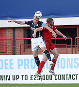 Dundee's Gary Irvine out jumps Aberdeen's Adam Rooney - Dundee v Abderdeen, SPFL Premiership at Dens Park<br /> <br />  - &copy; David Young - www.davidyoungphoto.co.uk - email: davidyoungphoto@gmail.com