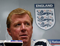 Photo: Jed Wee.<br />England Press Conference. 15/08/2006.<br /><br />New England manager Steve McClaren.