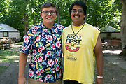 Shadow Drum and Bugle Corps spend time at Flat Rock River YMCA Camp in St Paul, Indiana on August 9, 2019. <br /> <br /> Beth Skogen Photography - www.bethskogen.com