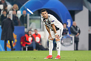 Juventus Forward Cristiano Ronaldo bends over during the Champions League Group H match between Juventus FC and Manchester United at the Allianz Stadium, Turin, Italy on 7 November 2018.