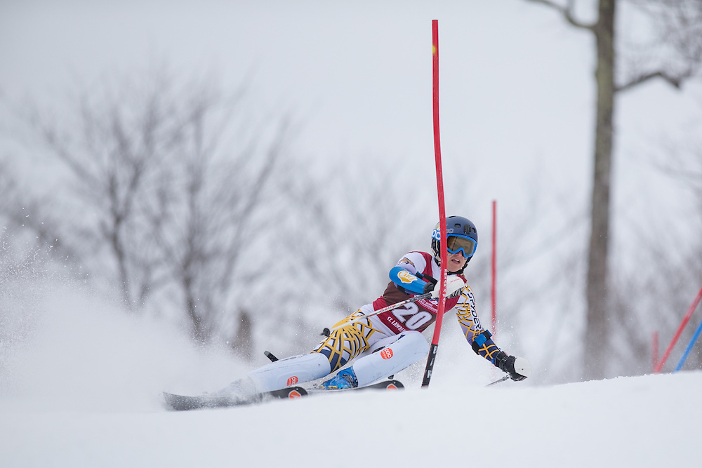 Benedicte Oseid Lyche of Montana State University, skis during the first run of the Women's Slalom at the NCAA Division I Skiing Championships on March 14, 2015 in Wilmington, NY. (Dustin Satloff/Colby College Athletics)
