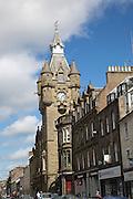 Historic buildings in Hawick, Roxburghshire, Scotland, UK