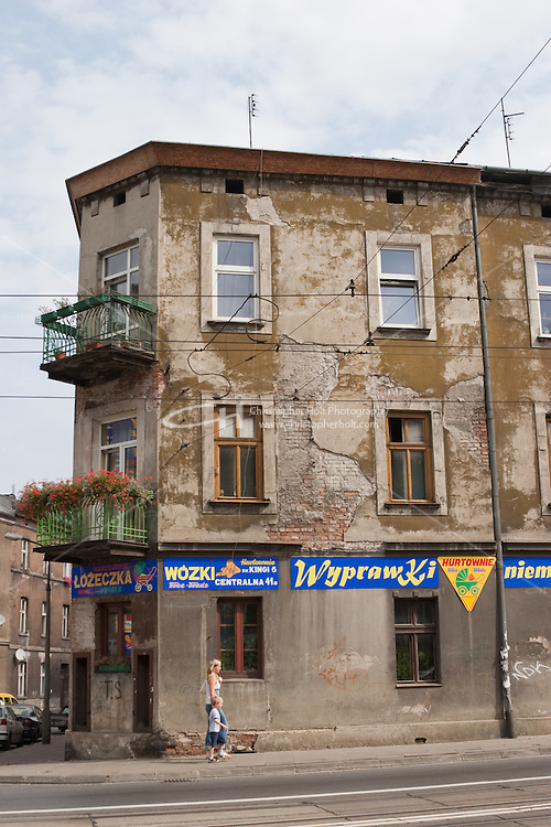 Shop requiring renovation in the Podgorze area of Krakow Poland