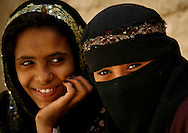 Two Amran Girls Smiling, Yemen