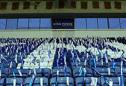 Paper and clappers are laid out for the Leicester City fans at the King Power Stadium - Mandatory byline: Robbie Stephenson/JMP - 28/11/2015 - Football - King Power Stadium - Leicester, England - Leicester City v Manchester United - Barclays Premier League