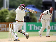West Indies batsman Brendan Nash hits out.<br />New Zealand v West Indies, First Test Match, National Bank Test Series, University Oval, Dunedin, Sunday 14 December 2008. Photo: Andrew Cornaga/PHOTOSPORT