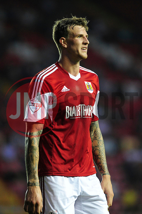 Bristol City's Aden Flint  - Photo mandatory by-line: Dougie Allward/JMP - Tel: Mobile: 07966 386802 27/08/2013 - SPORT - FOOTBALL - Ashton Gate - Bristol - Bristol City V Crystal Palace -  Capital One Cup - Round 2