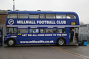 Millwall bus during the EFL Sky Bet League 1 match between Millwall and Bristol Rovers at The Den, London, England on 12 November 2016. Photo by Matthew Redman.