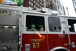Participants parade in the annual St. Patrick's Day Parade in Center City Philadelphia, PA on March 13, 2016. This year's Philadelphia St. Patrick's Day Parade commemorates the Easter Rising's 100th anniversary. It is the first year Mayor Jim Kenney participates in the parade as Mayor.