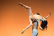 Sadler's Wells Theatre, London presents an evening of works by three choreographers: Edwaard Liang, Russell Maliphant & Christopher Wheeldon. Featuring Chinese prima ballerina Yuan Yuan Tan and Taiwanese virtuoso Fang-Yi Sheu, and San Francisco principal dancer Damian Smith. Picture shows After the Rain by Christopher Wheeldon, featuring Yuan Yuan Tan & Damian Smith.
