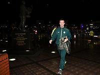 26/11/15 UEFA EUROPA LEAGUE GROUP STAGE<br /> CELTIC v AJAX<br /> CELTIC PARK - GLASGOW<br /> Celtic manager Ronny Deila arrives at Celtic Park