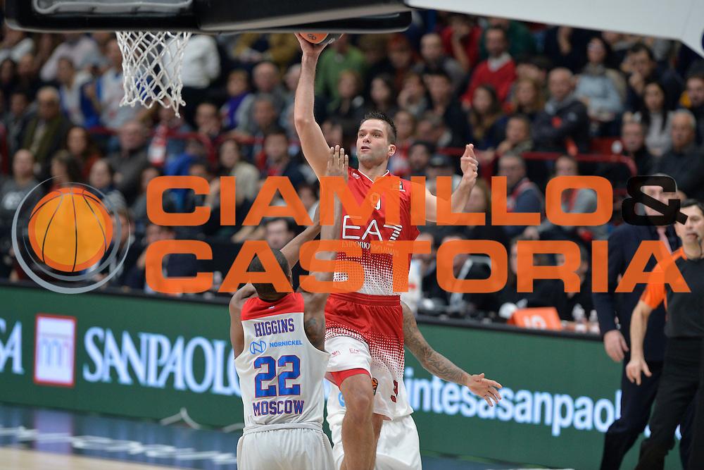 Kalnietis Mantas<br /> Olimpia EA7 Emporio Armani Milano vs Cska Moscow<br /> Euroleague 2016/2017<br /> Milano 08/12/2016<br /> Foto Ciamillo-Castoria