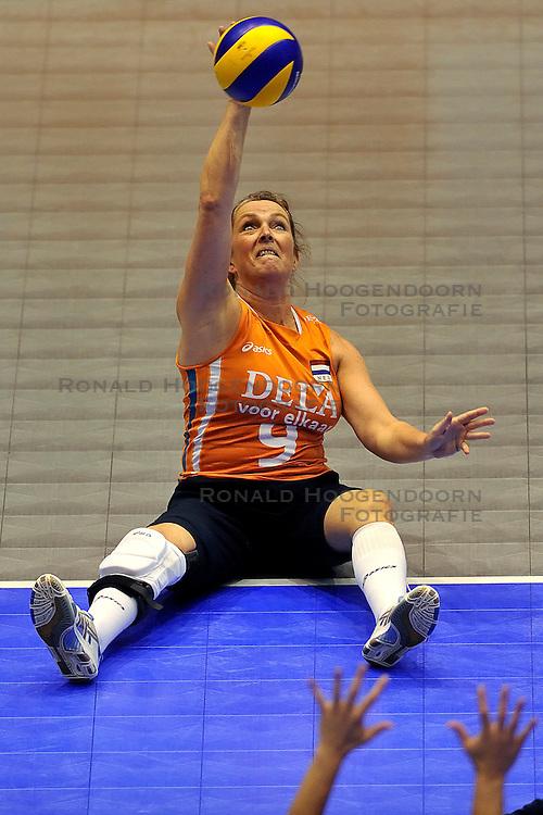 15-10-2011 VOLLEYBAL: EUROPEAN CHAMPIONSHIP SITTING VOLLEYBALL FINAL NETHERLANDS - UKRAINE: ROTTERDAM<br /> Netherlands lost the final with 3-1 from Ukraine / Jolanda Slenter<br /> &copy;2011-FotoHoogendoorn.nl
