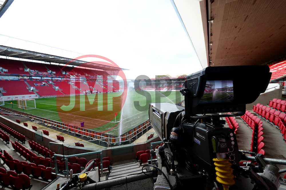 Sky Sports cameras at Ashton Gate Stadium - Mandatory by-line: Dougie Allward/JMP - 05/11/2016 - FOOTBALL - Ashton Gate - Bristol, England - Bristol City v Brighton and Hove Albion - Sky Bet Championship