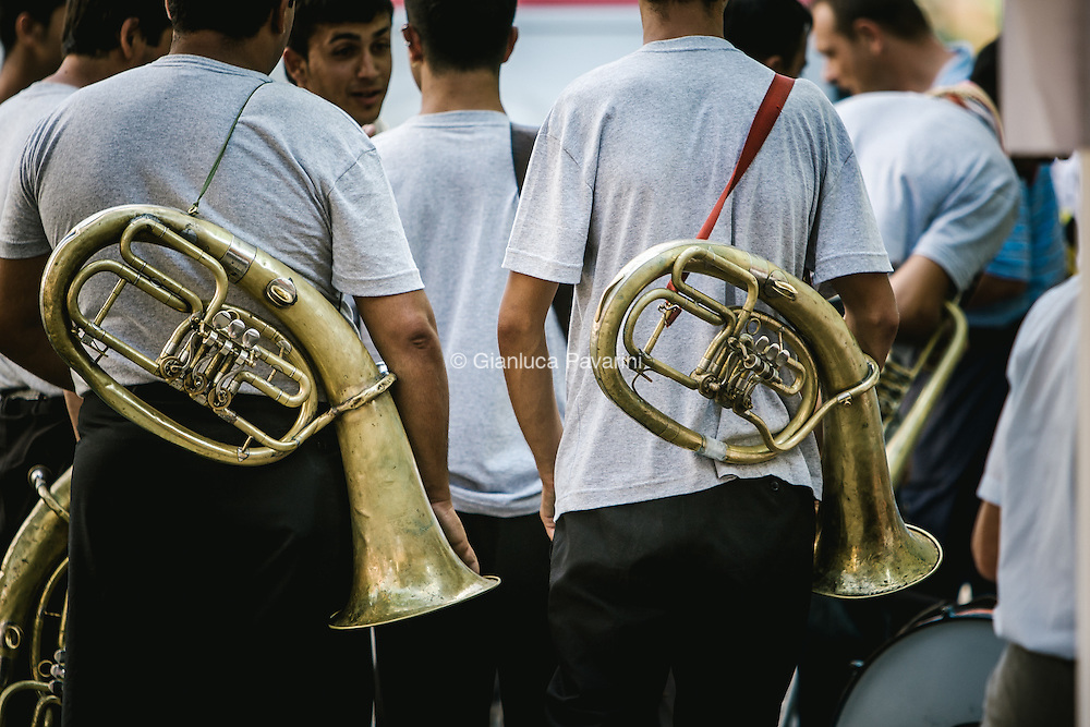 The Guča Tumpet Festival, also known as the Dragačevski Sabor (Serbian: Драгачевски сабор or Dragačevo Fair, is an annual brass band festival held in the town of Guča, near the city of Čačak, in the Dragačevo region of western Serbia. Guča is a three-hour bus ride from Belgrade.<br /> 600,000 visitors make their way to the town of 2,000 in habitants every year, both from Serbia and abroad. Elimination heats are held earlier in the year and only a few dozen bands qualify to compete.