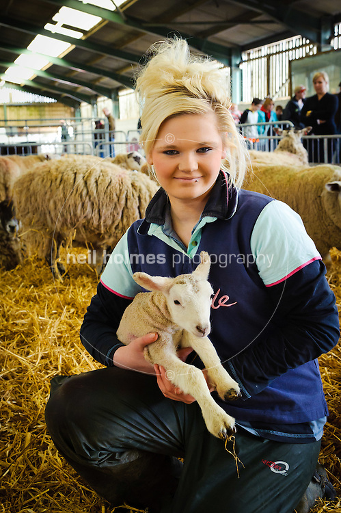 Lambing Sunday, 27th March 2011 at Bishop Burton College. Pictured  College student Rachel Dring