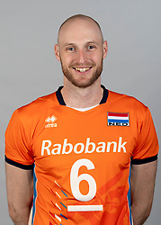 14-05-2018 NED: Team shoot Dutch volleyball team men, Arnhem<br /> Jasper Diefenbach #6 of Netherlands