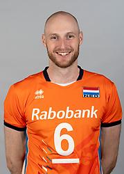14-05-2018 NED: Team shoot Dutch volleyball team men, Arnhem<br /> Jasper Diefenbach #6 of Netherlands
